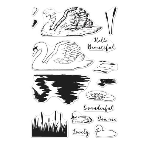 Hero Arts Clear Stamps Color Layering SWAN CM228 Preview Image