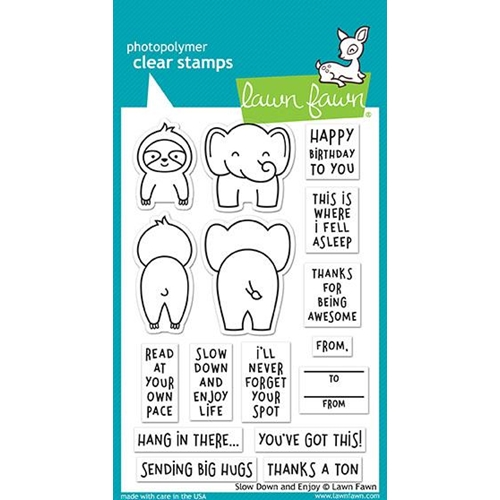 Lawn Fawn SLOW DOWN AND ENJOY Clear Stamps LF1602 Preview Image