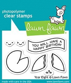 Lawn Fawn YEAR EIGHT Clear Stamps LF1605 zoom image