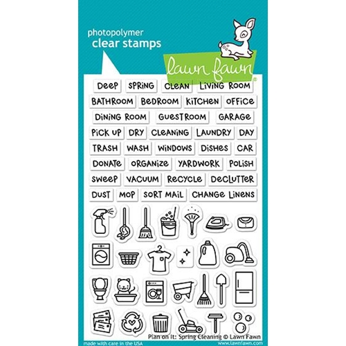 Lawn Fawn PLAN ON IT SPRING CLEANING Clear Stamps LF1607 Preview Image
