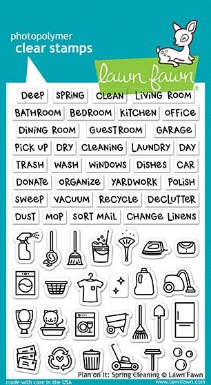 Lawn Fawn PLAN ON IT SPRING CLEANING Clear Stamps LF1607 zoom image