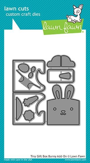Lawn Fawn TINY GIFT BOX BUNNY ADD-ON Lawn Cuts LF1610 zoom image