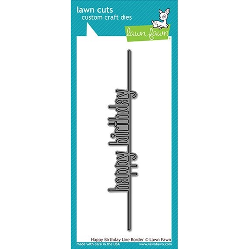 Lawn Fawn HAPPY BIRTHDAY LINE BORDER Lawn Cuts LF1615 Preview Image