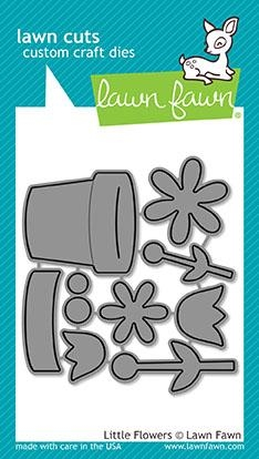 Lawn Fawn LITTLE FLOWERS Lawn Cuts LF1619 Preview Image