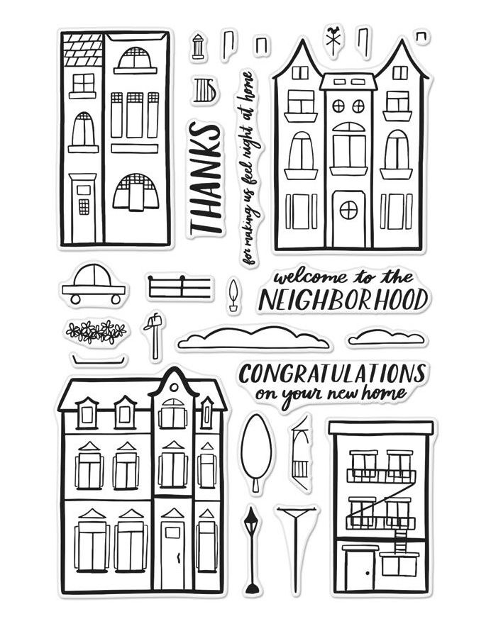 Hero Arts Welcome Neighbor Clear Stamp Set