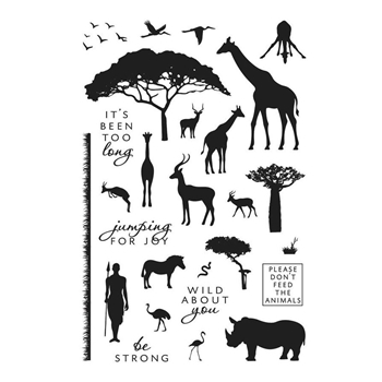 Hero Arts Clear Stamps SAFARI WILD ABOUT YOU CM218