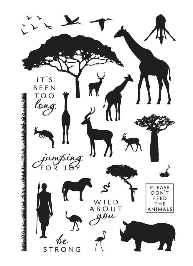Hero Arts Clear Stamps SAFARI WILD ABOUT YOU CM218 zoom image