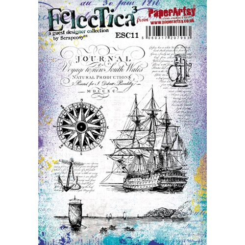 Paper Artsy ECLECTICA3 SCRAPCOSY 11 Rubber Cling Stamp ESC11 Preview Image