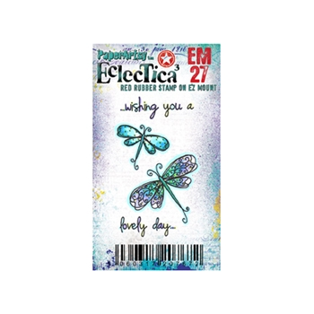 Paper Artsy ECLECTICA3 KAY CARLEY MINI 27 Rubber Cling Stamp EM27