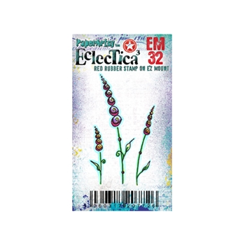 Paper Artsy ECLECTICA3 KAY CARLEY MINI 32 Rubber Cling Stamp EM32
