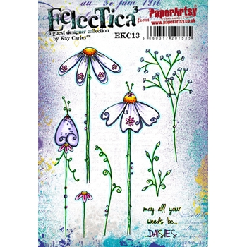 Paper Artsy ECLECTICA3 KAY CARLEY 13 Rubber Cling Stamp EKC13