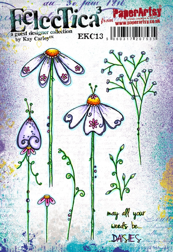 Paper Artsy ECLECTICA3 KAY CARLEY 13 Rubber Cling Stamp EKC13 zoom image