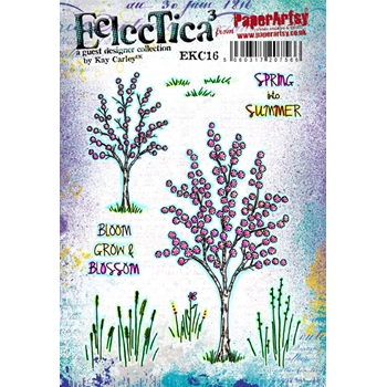 Paper Artsy ECLECTICA3 KAY CARLEY 16 Rubber Cling Stamp EKC16*