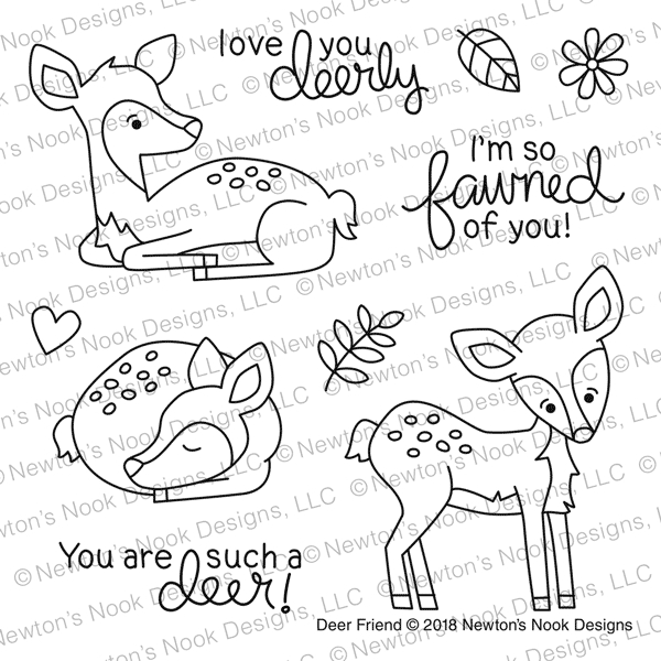 Newton's Nook Designs DEER FRIEND Clear Stamp Set NN1801S01 zoom image