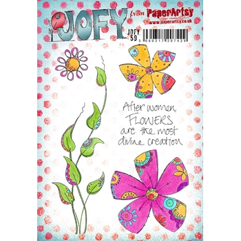 Paper Artsy JOFY 59 Rubber Cling Stamp JOFY59