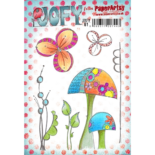 Paper Artsy Jofy 61 Cling Stamp Set