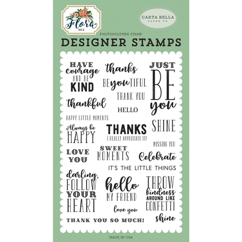Carta Bella JUST BE YOU Clear Stamps cbflo79042* Preview Image