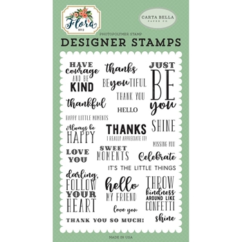 Carta Bella JUST BE YOU Clear Stamps cbflo79042*