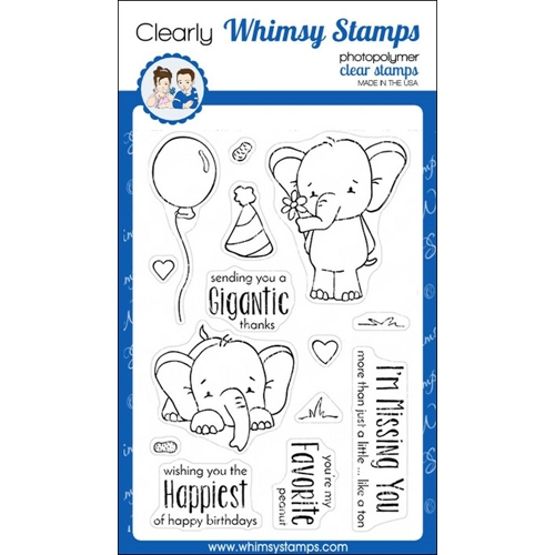 Whimsy Stamps SKETCHED ELEPHANTS Clear Stamps cwsn156 Preview Image