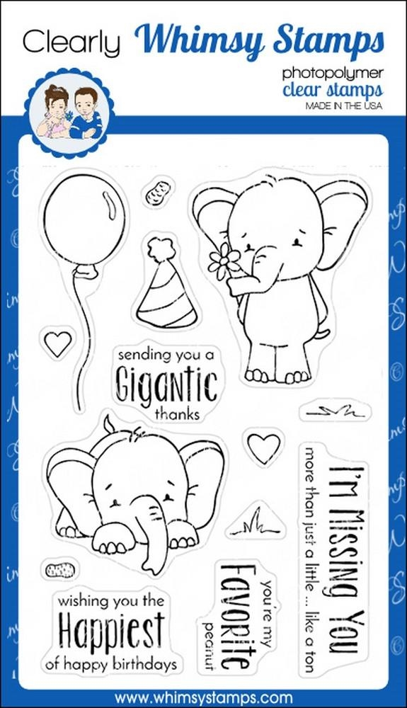 Whimsy Stamps SKETCHED ELEPHANTS Clear Stamps cwsn156 zoom image