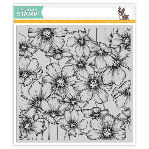 Simon Says Cling Rubber Stamp COSMOS Background sss101802 Love Preview Image