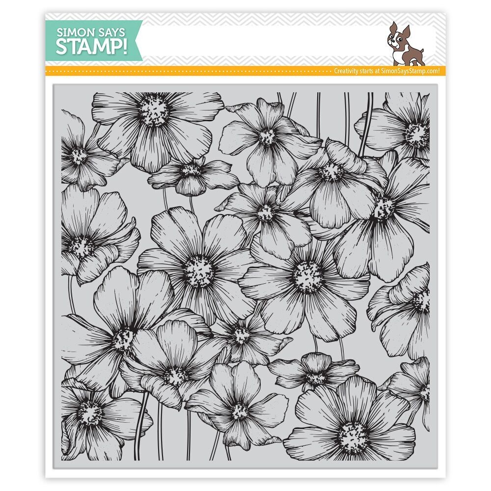 Simon Says Cling Rubber Stamp COSMOS Background sss101802 Love zoom image
