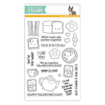 Simon Says Clear Stamps BREAKFAST BUDDIES sss101818 Love