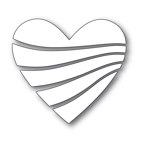 Simon Says Stamp STREAMING HEART Wafer Dies s530 Love Preview Image