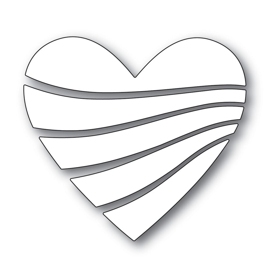 Simon Says Stamp STREAMING HEART Wafer Dies s530 Love zoom image