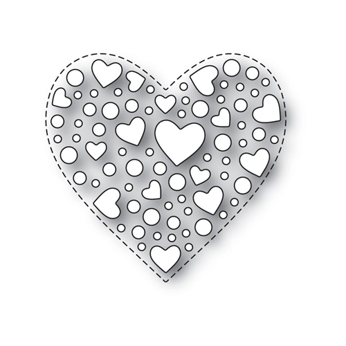 Simon Says Stamp SPRINKLE HEART Wafer Dies s532 Love Preview Image