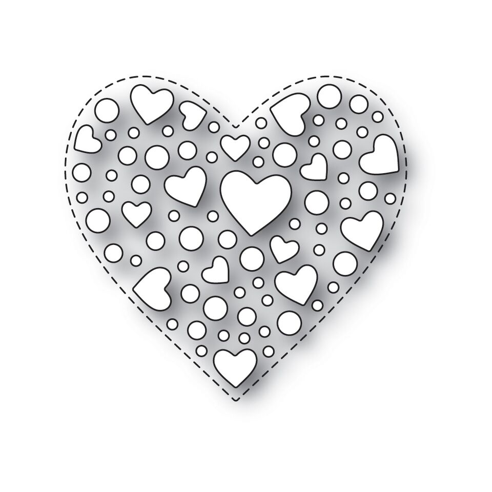 Simon Says Stamp SPRINKLE HEART Wafer Dies s532 Love zoom image