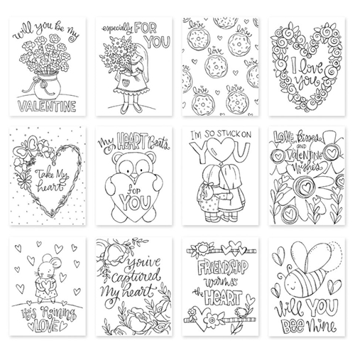 Simon Says Stamp Suzy's LOVE AND FRIENDSHIP Watercolor Prints swlf18 Love Preview Image