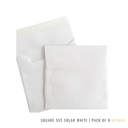 Studio Katia SQUARE 5 X 5 NEENAH SOLAR WHITE 80LB ENVELOPES sk2115 Preview Image