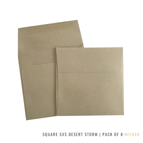 Studio Katia SQUARE 5 X 5 NEENAH DESERT STORM 80LB ENVELOPES sk2116 Preview Image