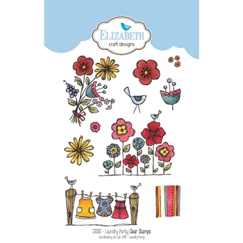 Elizabeth Craft Designs Clear Stamps LAUNDRY PARTY CS083*