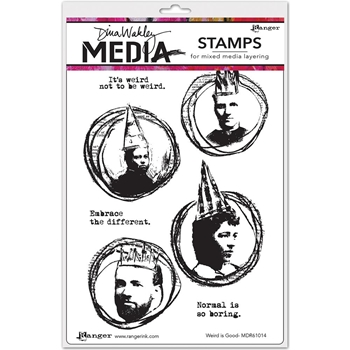 Dina Wakley WEIRD IS GOOD Media Cling Rubber Stamp MDR61014