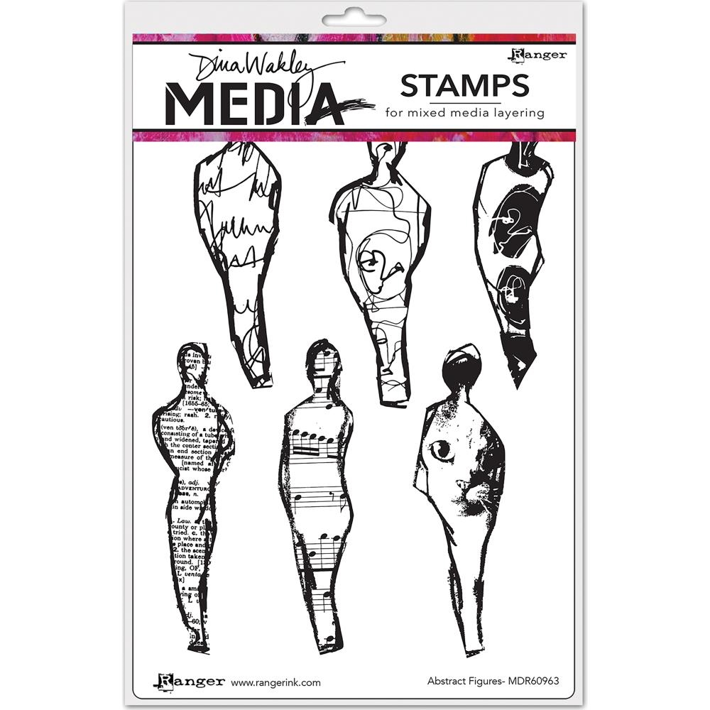 Dina Wakley ABSTRACT FIGURES Media Cling Rubber Stamp MDR60963 zoom image