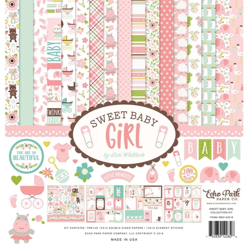 Echo Park SWEET BABY GIRL 12 x 12 Collection Kit sbg142016 Preview Image