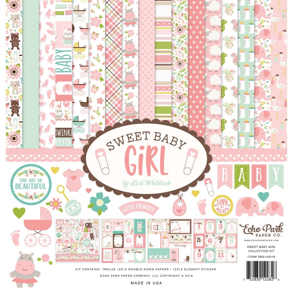 Echo Park SWEET BABY GIRL 12 x 12 Collection Kit sbg142016 zoom image