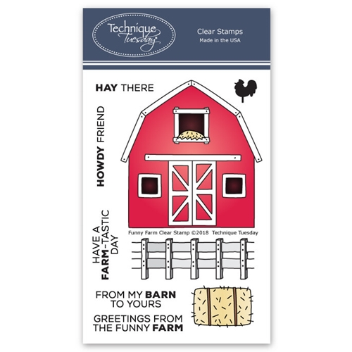 Technique Tuesday FUNNY FARM Clear Stamps 02609 Preview Image