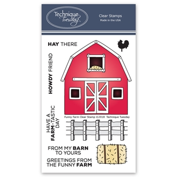 Technique Tuesday FUNNY FARM Clear Stamps 02609