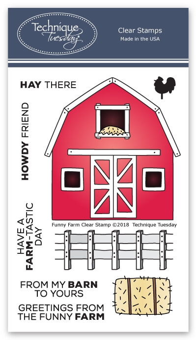 Technique Tuesday FUNNY FARM Clear Stamps 02609 zoom image
