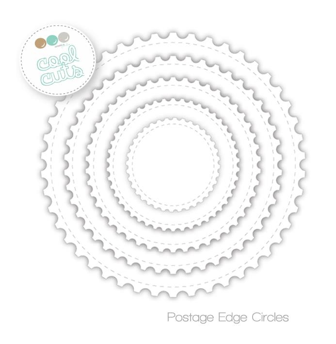 Create A Smile POST EDGE CIRCLES Cool Cuts Die dcs16* zoom image