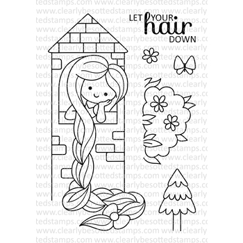 Clearly Besotted FAIRY TALE MAIDEN Clear Stamp Set*
