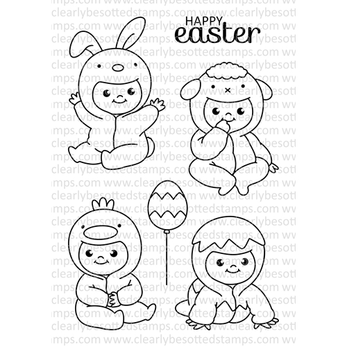 Clearly Besotted ALL IN ONESIE EASTER Clear Stamp Set Preview Image