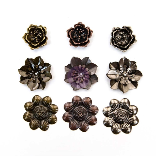 Prima Marketing FLOWERS Mechanicals Metal Embellishments 965945 Preview Image