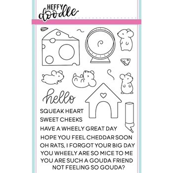 Heffy Doodle HELLO SQUEAKHEART Clear Stamps hfd0033