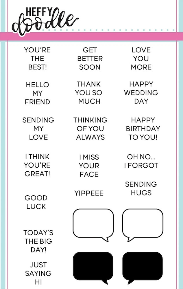 Heffy Doodle WHATCHA SAYING Clear Stamps hfd0037 zoom image