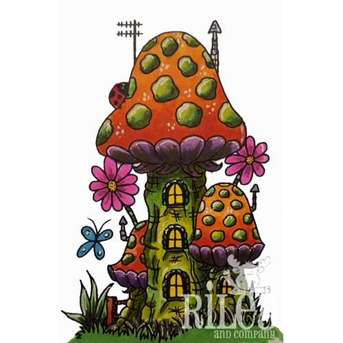 Riley and Company Mushroom Lane TRI-LEVEL HOUSE Cling Stamp Set ML-2422 Preview Image