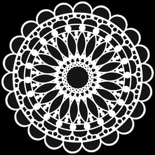 The Crafter's Workshop SMALL SCALLOPED MANDALA 6x6 Template tcw775s* zoom image